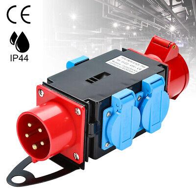 Adapter Stromverteiler Baustromverteiler CEE-Steckdose 16A 4 x 230V Kraftstrom