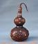 8-034-Vieille-Chine-rouge-Cuivre-Dore-prune-fleur-Bambou-Fleur-Gourdes-Vase miniature 8