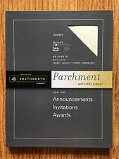 southworth 24 lb ivory fine parchment paper 8 1 2in x 11in ebay