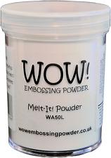 Wow Melt It Powder 160ml Jar Make 3D Embellishments With Embossing Powders WA50L