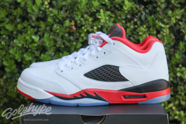 AIR JORDAN 5 RETRO LOW V GS SZ 6 Y FIRE RED WHITE BLACK 314338 101