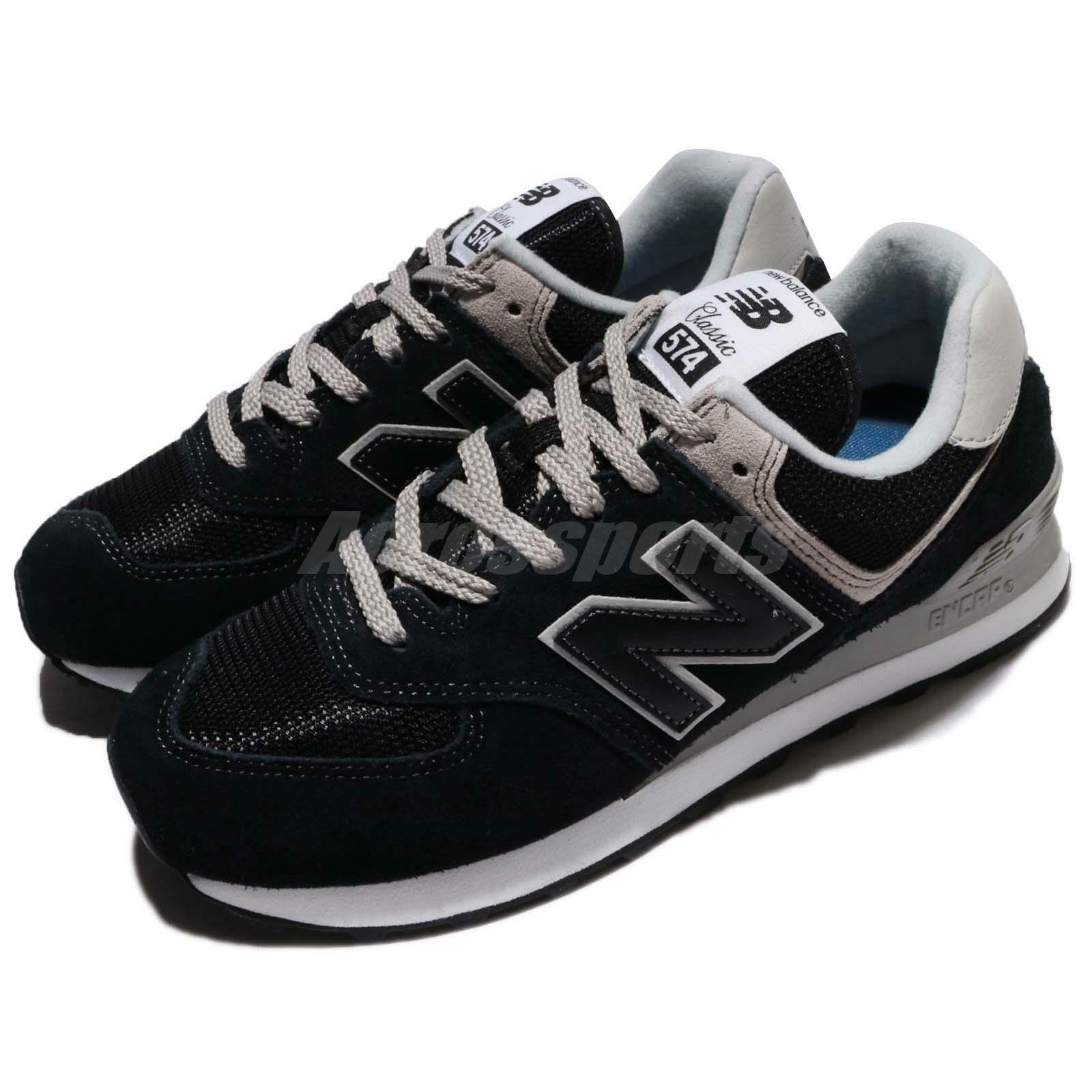 New Balance ML574EGK D 574 Running Suede Noir Gris Hommes Running 574 Chaussures Baskets ML574EGKD 7b3034