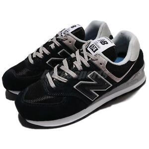 New Balance ML574EGK D 574 Suede Black Grey Men Running Shoes ... ca85ab2a2a09