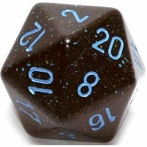 BLUE STARS Highly Collectible Excellent Quality Durable D20 Dice Speckled (34mm)