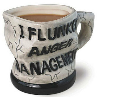 NEW Creative Anger management Twisted Ceramic Coffee Mug Tea Cup 7102