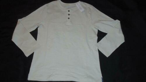 NEW Boys Size 5-6 Gymboree Shirt Cream Henley Long Sleeve 2018 Line MSRP $24 NWT