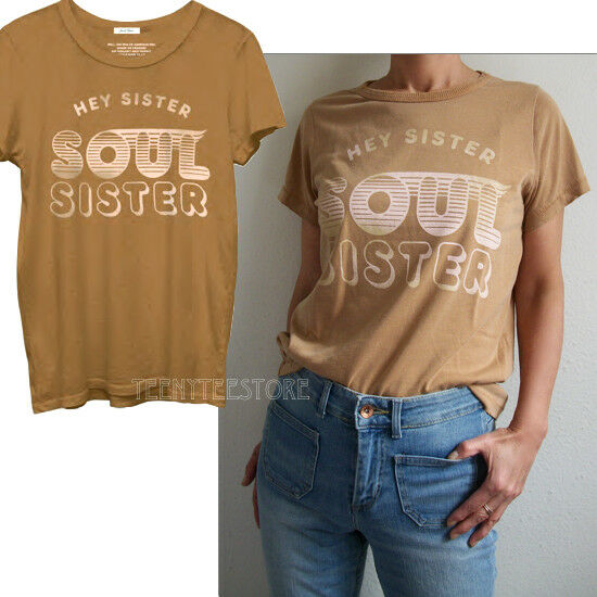 Junk Food Hey Sister Soul Sister 70's Soul Lyric Detroyed Finish Classic T-shirt