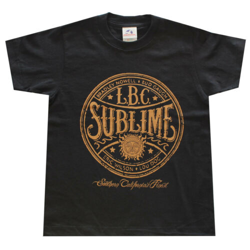 Children Boy Kids T Shirt Sublime L.B.C Graphic Shirt Black