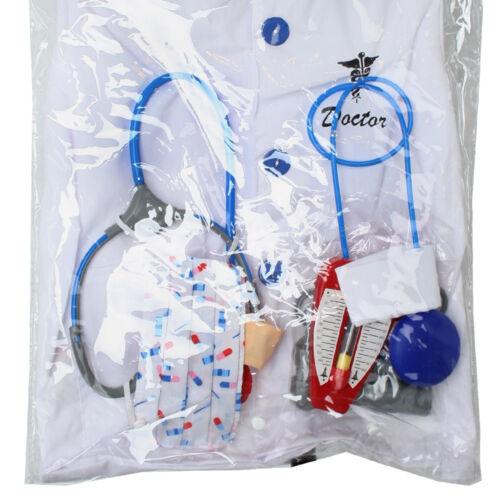 Doktorset Arztkittel Mantel Arzt Doktor 9-teilig Stethoskop Kostüm für Kinder