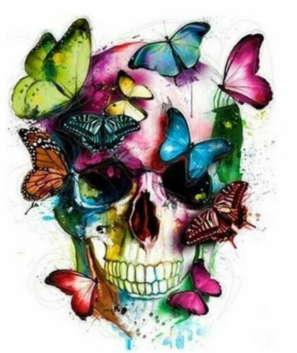 Classical Butterfly Skull Propylene Painting By Numbers Kits Adults DIY Tools