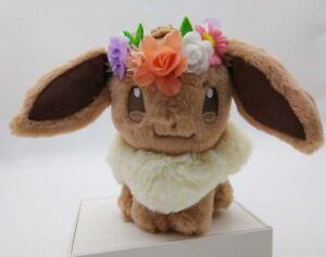 Japan-Pokemon-Center-Easter-2018-Eevee-Plush-With-Flower-Crown-Kawaii