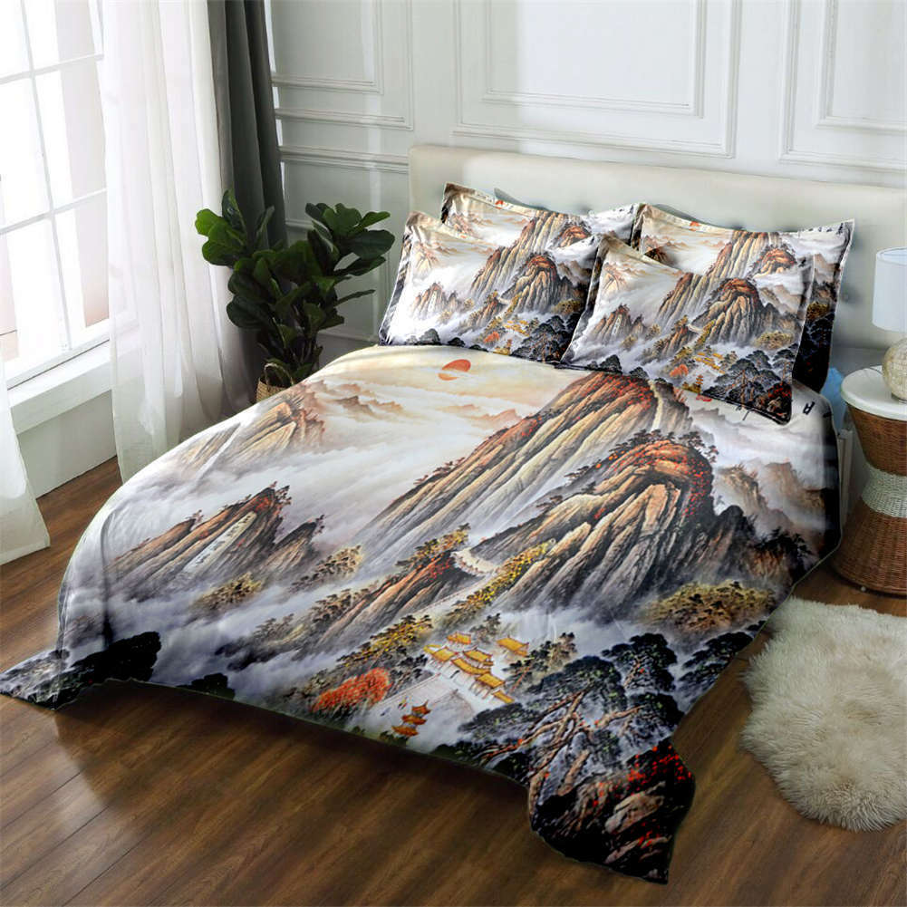 Powerful Nature 3D Printing Duvet Quilt Doona Covers Pillow Case Bedding Sets