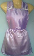 lilac satin skirt romper bib tutu french maid cosplay sissy adult baby fit 28-40