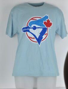 MLB-Wright-amp-Ditson-Medium-Cotton-Toronto-Blue-Jays-Blue-Short-Sleeve-Tshirt