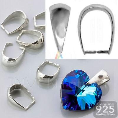 925 Plata Esterlina Colgante Collar de cristal de ajuste bolas de pellizco muchos Tamaños