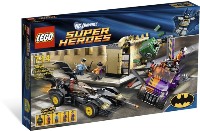 LEGO DC COMICS SUPERHEROES 6864 Batmobile & The Two Face Chase •Brand New Sealed