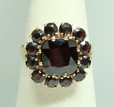 Granat Ring 585er Gelbgold Gr. 57 rote Eleganz rote Granate sonnenstrahlschmuck