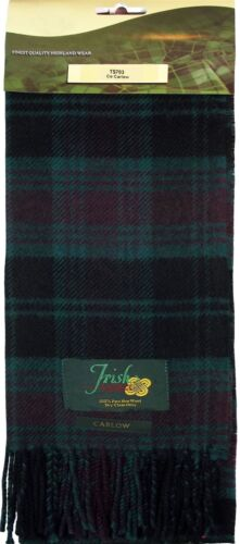 100/% Lambswool Scarf in Irish County Carlow Tartan