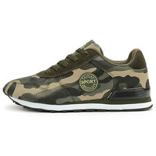 Women Mens Camouflage Military Wedge Lace up Travel Sneaker Sports Running Shoes