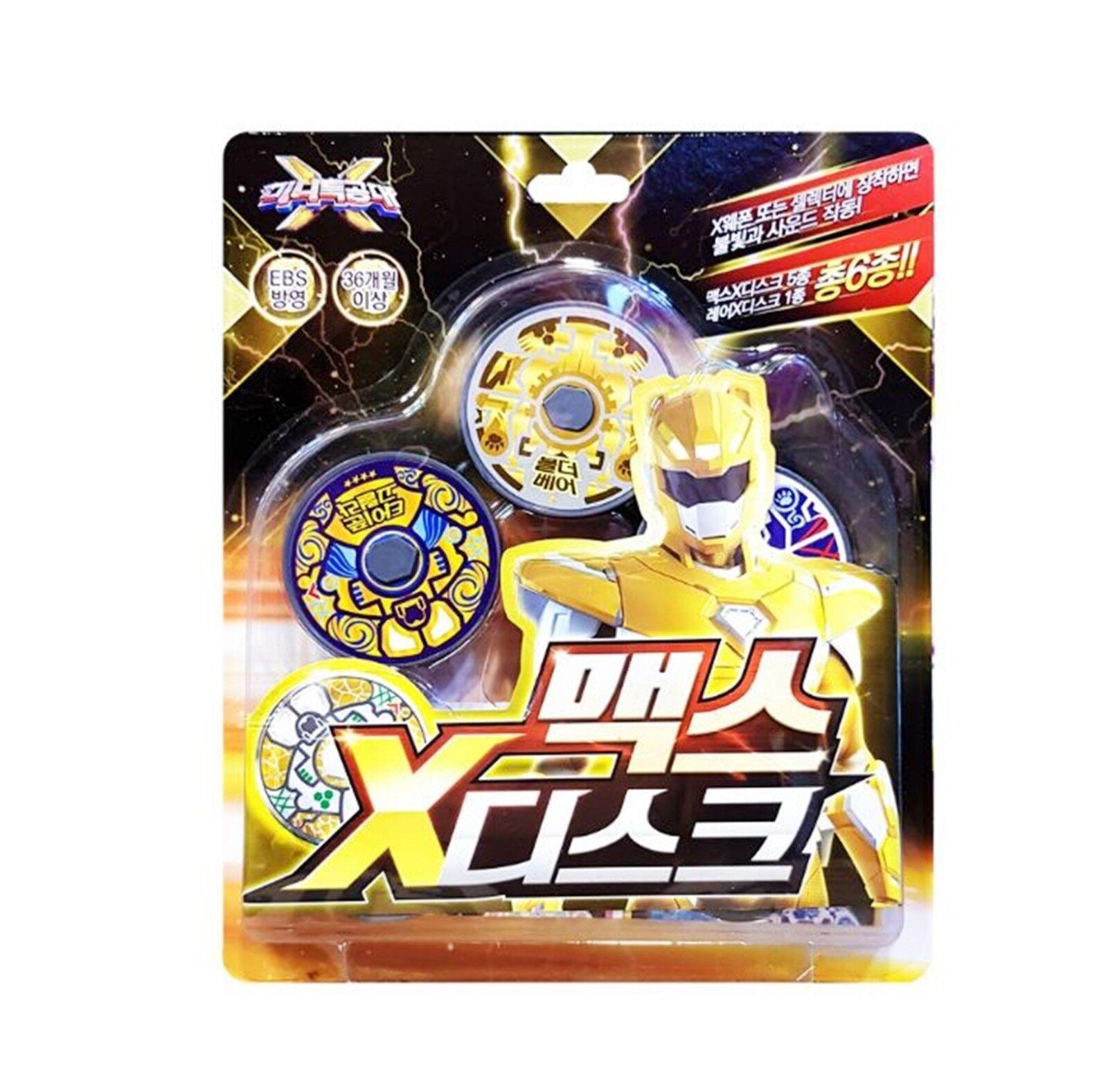 Miniforce Miniforce Miniforce Mini Force X Ranger  Weapon MAX + 6 Disk Gun Sword Transweapon Toy Set 439f8b