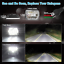 "105W 7x6/"" 5x7/"" Square LED Light Bulbs Hi//Lo Beam Headlight DRL For Jeep XJ YJ"