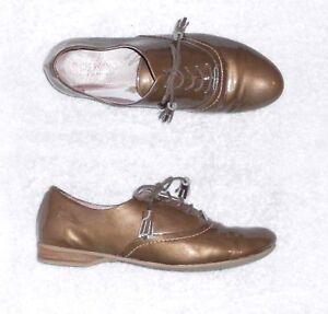 Détails sur DORKING chaussures à lacets cuir verni taupe P 37 = 38 TBE