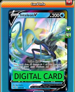 049//192 Rebel Clash PTCGO Online Digital Card Inteleon V