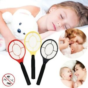 Electric-Handheld-Bug-Zapper-Racket-Electronic-Mosquito-Fly-Swatter-Insect-dfo