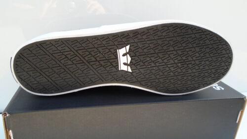SUPRA Wrap Scarpe Sneaker Tempo Libero Skater Scarpe-Nero s05010 SPORT NUOVO