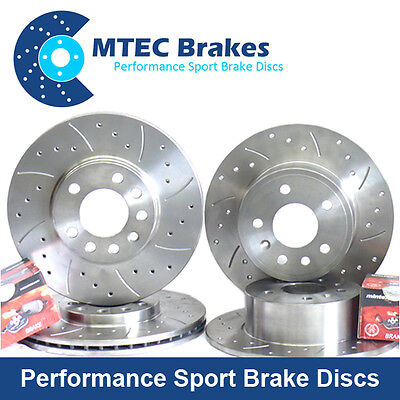 Front Drilled Grooved Brake Discs 310mm BMW E60 520d 03