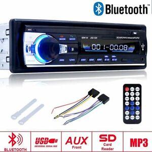 MP3-Player-Auto-Radio-USB-SD-Bluetooth-FM-Stereo-AUX-IN-LCD-WMA-Fernbedienung