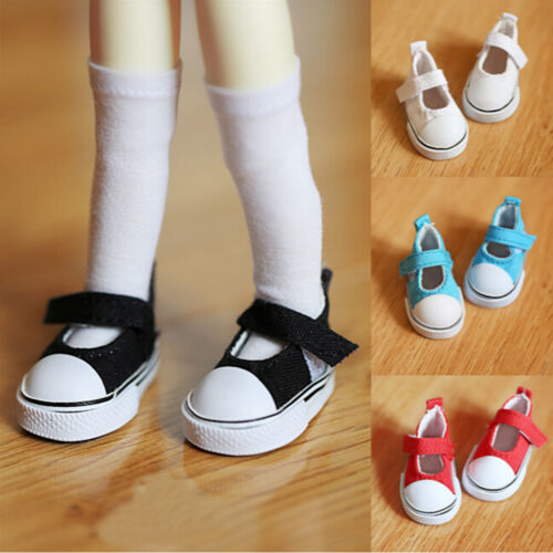 5cm Doll Shoes Canvas Mini Toy Shoes1//6 Bjd For Russian Tilda Doll Sneackers EF