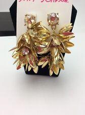 $55 Betsey Johnson I Dream Of Betsey Waterfall Earrings DB9