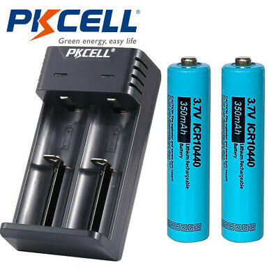 2x Icr10440 Aaa Size 3 7v Rechargeable Lithium Ion Batteries Battery Charger Ebay