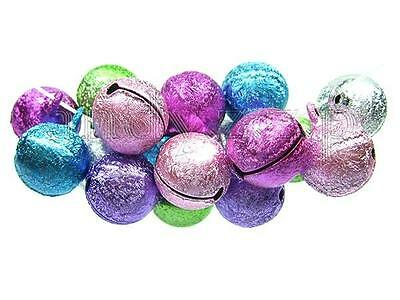 40pcs 14x18mm mix color jingle bells charms drop beads LTY