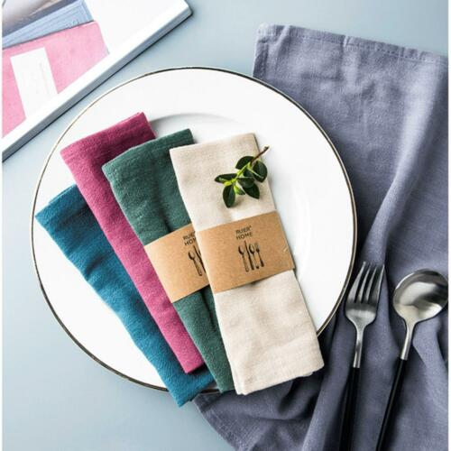 Table Napkins Party Linen Wedding Hotel Cotton Dinner Cloth Q