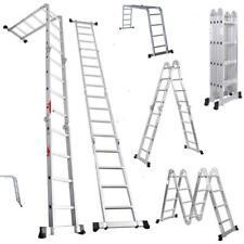 Folding 16 Step Aluminum Ladder Extension Ladders Multi Purpose 155ft