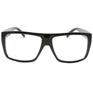 83047cc9c4 Large Nerdy Frame Clear Lens Eye Glasses Frame Skrillex Style Flat ...