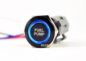 Noir LED 19MM Carburant Pompe Billet Bouton Interrupteur Course Panneau Holley