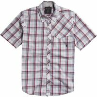 Fox Racing Mens Kid-a Woven Short Sleeved Checked Shirt Size Medium 42 Chest