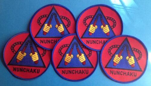 5 Lot Vintage 1980/'s Nunchucks Kung Fu Martial Arts Nunchaku Jacket Patches 333