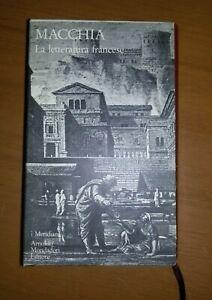 MACCHIA-LETTERATURA-FRANCESE-MONDADORI-MERIDIANI-1987