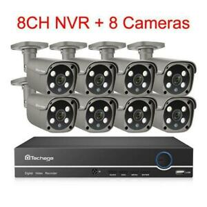 Protect your Property !!!Techage H.265 8CH 5MP HD Video Surveillance 3TB HDD  Free Fast Shipping Canada Preview