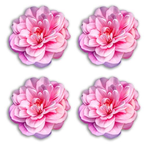 4 x 10 cm fleurs roses Vinyle Stickers-Autocollant Voiture Bagage Voyage Cadeau #19240