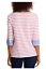 Nautica-Women-039-s-3-4-Cuffed-Sleeve-Chambray-Casual-Top-Large-Coral-White-Stripe thumbnail 3
