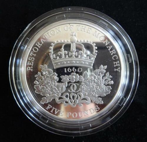 2010 SILVER PROOF UK 5 PIEDFORT COIN ANNI OF THE RESTORATION OF MONARCHY