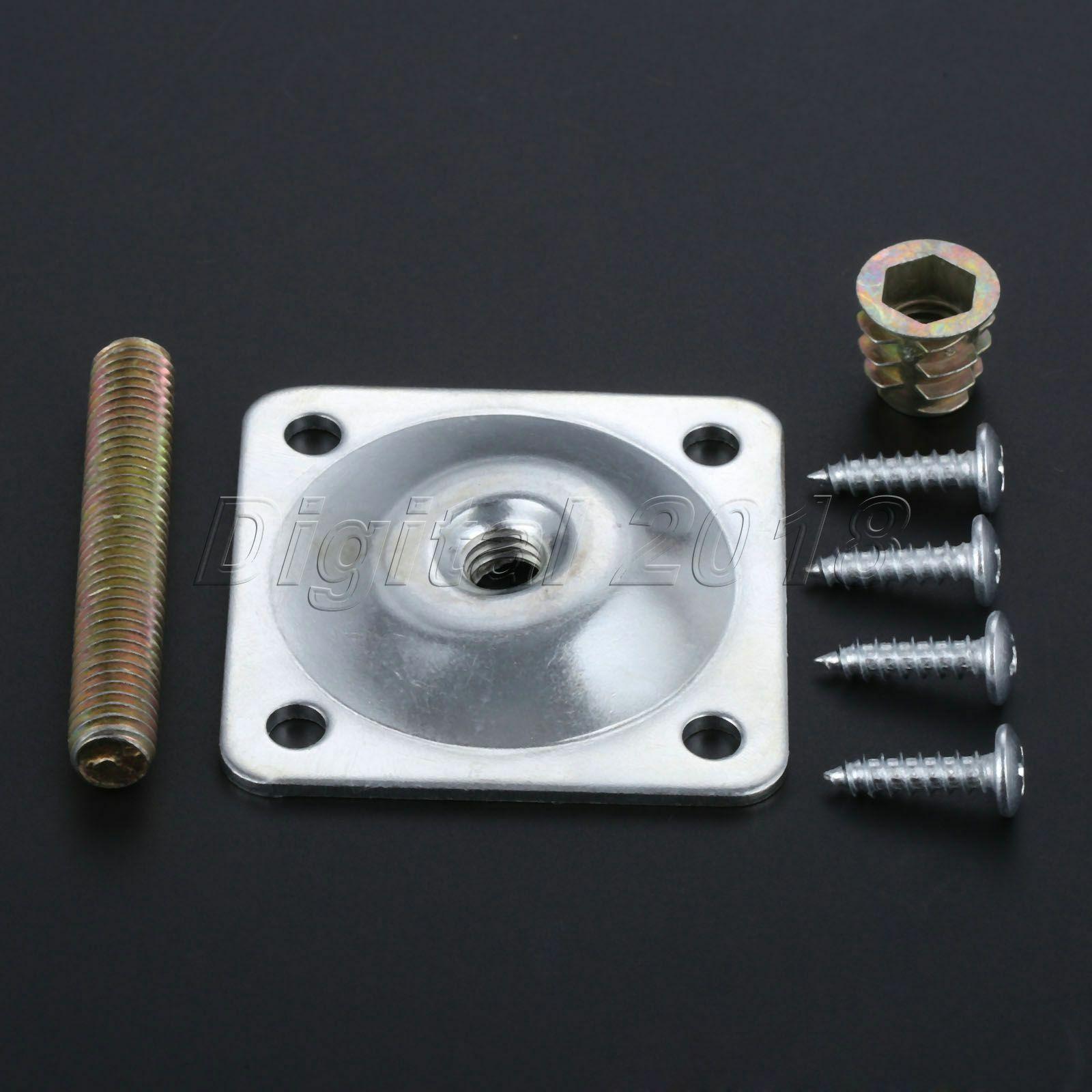Tabla de hardware para muebles Patas de sofá de placa de montaje de la pierna Pie accesorios de fijación