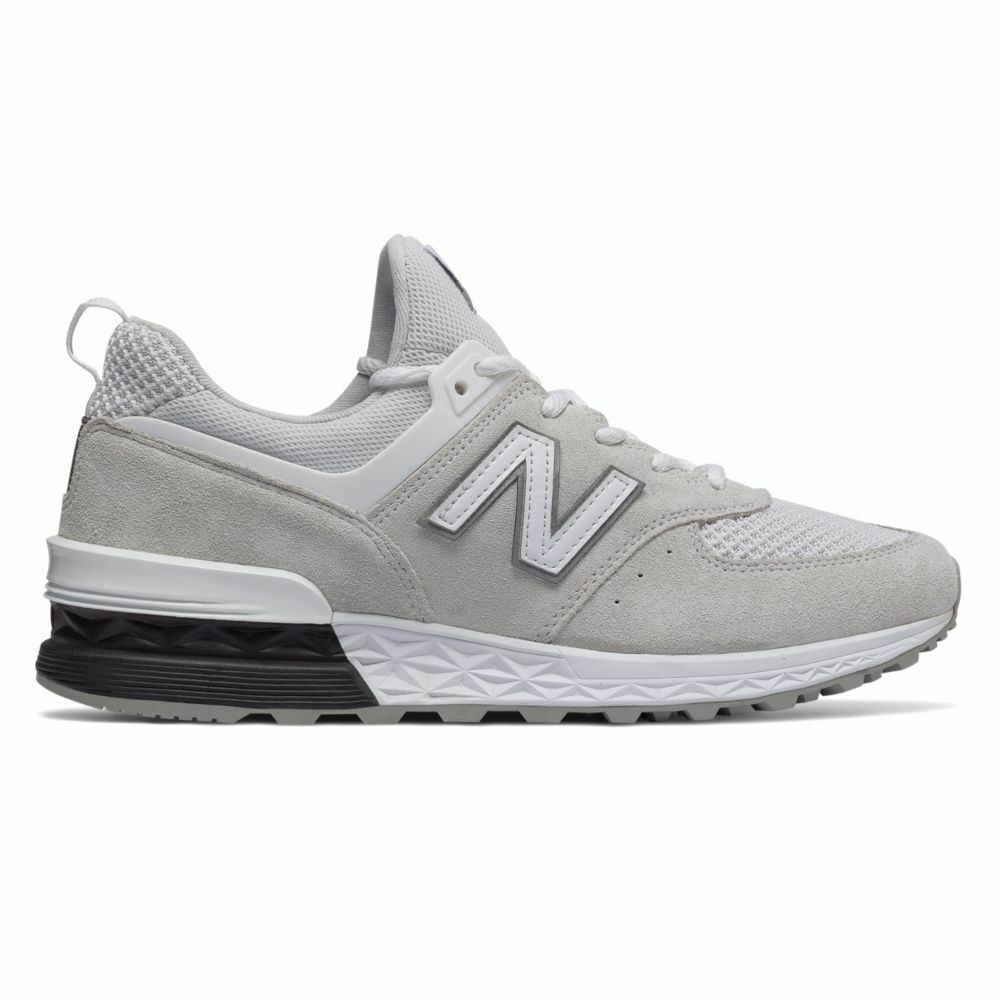 New Balance 574 White   MS574STW   Men's NB 574 Suede Mesh Black Grey Arctic Fox