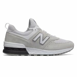 2c4dd47c8a6 Details about New Balance 574 White / MS574STW / Men's NB 574 Suede Mesh  Black Grey Arctic Fox