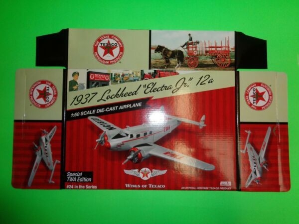 #24 TEXACO 1937 LOCKHEED 12A ELECTRA JR. AIRPLANE SPECIAL EDITION - BOX ONLY
